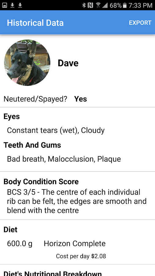 SNAP: Pet Nutritional Advice- screenshot