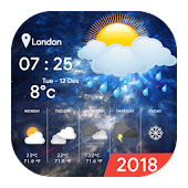 Tải 2018 Live Weather Clock and Widget APK