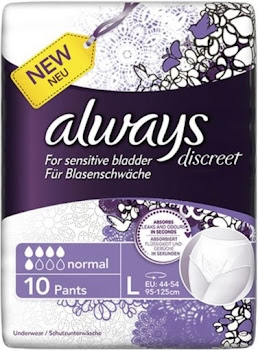 Always Discreet Pants - Large, Pack of 10