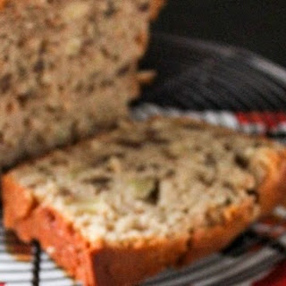 Apple Oat Quick Bread with Caramel Sauce.