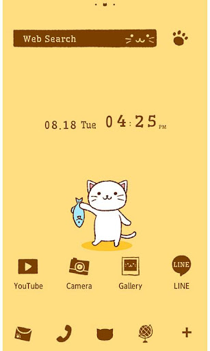 かわいい壁紙・アイコン-Lonely cat-無料きせかえ