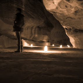 by Anthony Schwab - People Street & Candids ( petra by night, candle light )