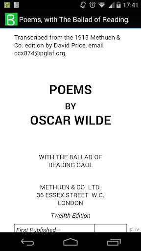 Poems by Oscar Wilde