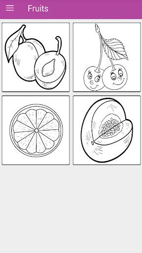 Kids Vegetables & Fruits Coloring Book 1.11.1 screenshots 2