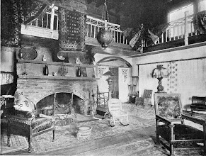 Photo: 1903 A sitting room in a large country house.
