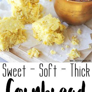 Soft & Thick Sweet Cornbread