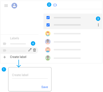Group your contacts with labels