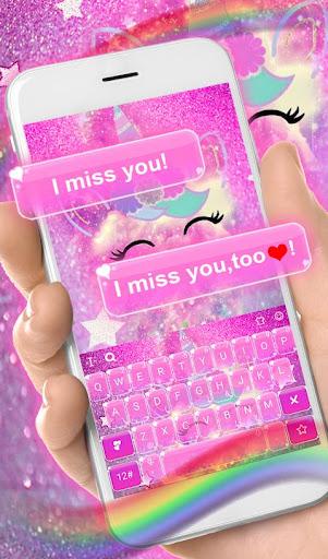 Download Pink Unicorn Keyboard Theme MOD APK 2