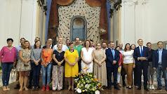 Los representantes de los pueblos del Levante tras la elección de María López como presidenta.
