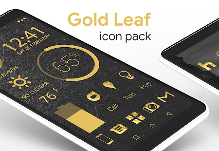 Gold Leaf - Icon Pack (Pro Version) Screenshot