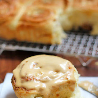 Lotus Cookie Cinnamon Buns with Speculoos Cream Cheese Frosting