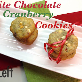 Holiday White Chocolate Cranberry Cookies