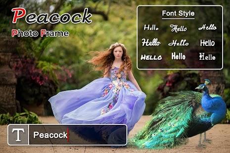 Peacock Photo Editor, Photo Frame - náhled