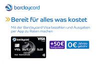 Angebot für Barclaycard Visa Kreditkarte + 50€ Startguthaben im Supermarkt
