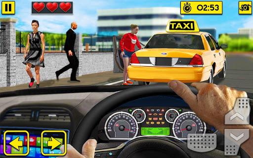 City Taxi Driving Sim 2020: Free Cab Driver Games apklade screenshots 1