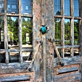 behind the locked doors by Hendrik Mändla - Buildings & Architecture Architectural Detail ( doors, old, hdr, locked )