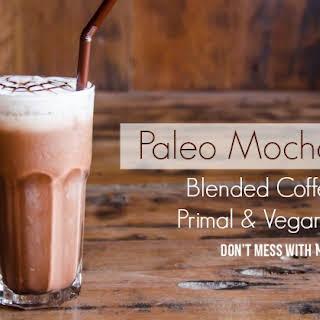 Paleo Mocha Frappe Coffee Drink.