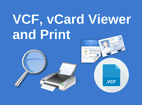 VCF, vCard Viewer and Print