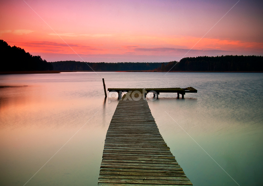 Masurian  by Grzegorz Gluchy - Landscapes Travel ( sunset, masurian, lake )