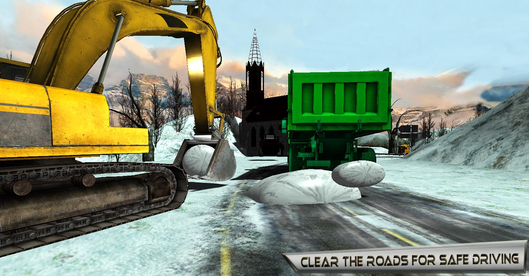snow excavator u0026 dump truck 3d android apps on google play