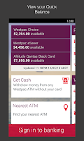 Screenshot of Westpac Mobile Banking