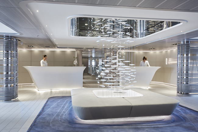 A look at the Ponant Yacht Spa.