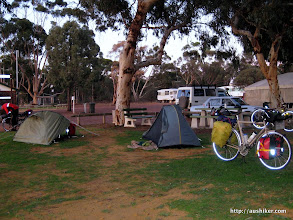 Photo: Our campsite at the Brookton Caravan Park and Camping Ground