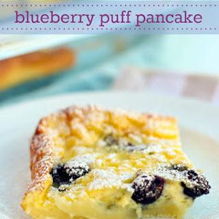 Gluten-Free Blueberry Puff Pancake
