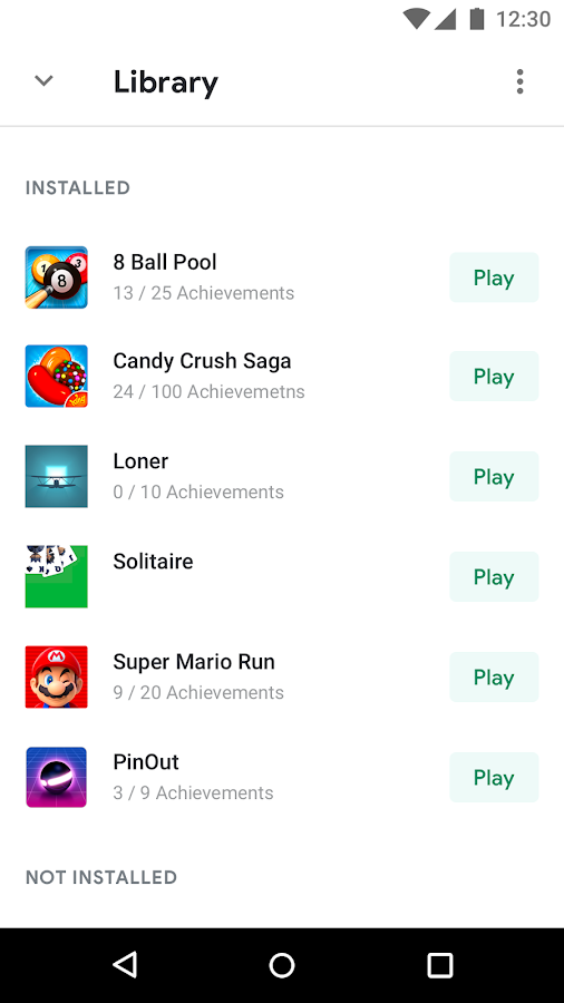 Google Play Jeux – Capture d'écran