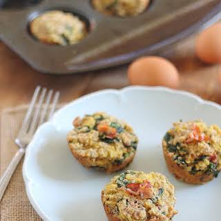 Bacon Spinach Breakfast Frittata Muffins.