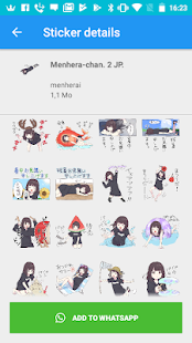Menhera-chan Stickers for WhatsApp 2019