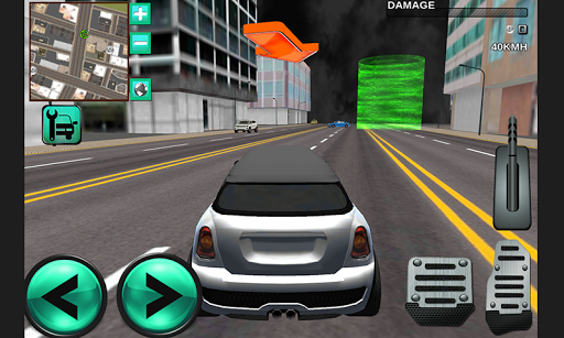 市区城市豪华轿车司机3D
