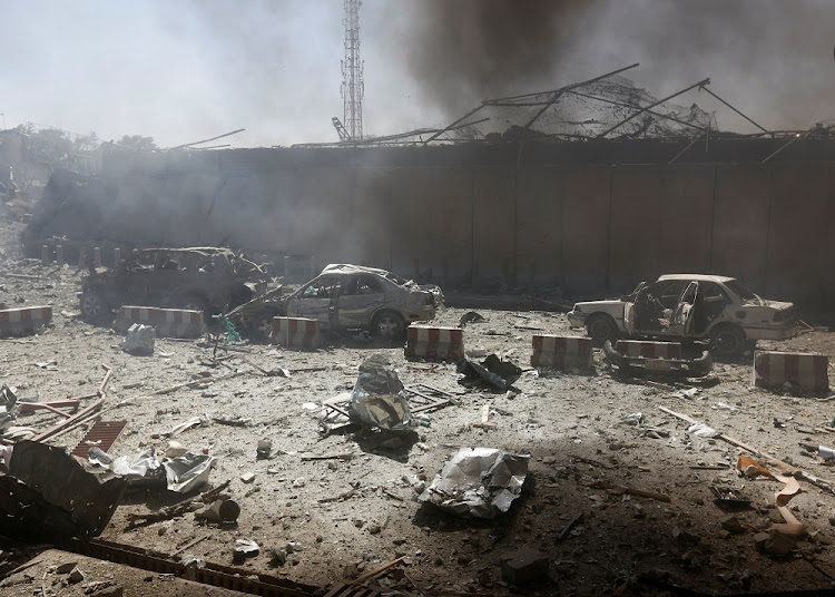 FILE PHOTO. The scene of a massive truck bomb attack in Kabul, Afghanistan. Picture: REUTERS