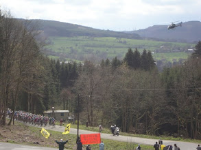 Photo: The Pros ascending the Col du Rosier which is overlooked by our home
