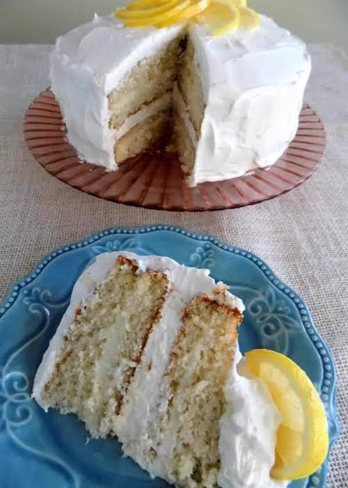 """Refreshing Lemon Icebox Cake """"This cake is so refreshing and a crowd..."""