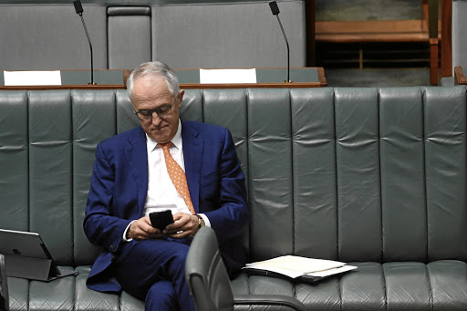 Australian Prime Minister Malcolm Turnbull in the House of Representatives at Parliament House, in Canberra. Picture:.AAP/Lukas Coch/via REUTERS