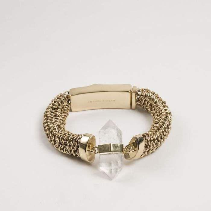 Cornelia Webb, armband med bergkristall & mässing