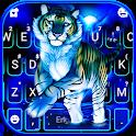 Neon Blue Tiger King Keyboard Theme icon
