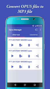 Audio Manager for OPUS to MP3- screenshot thumbnail