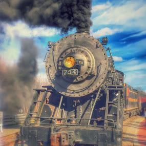 Dream Engine by Chris Montcalmo - Transportation Trains ( steam engine, engine, train, lovomotive, trains )