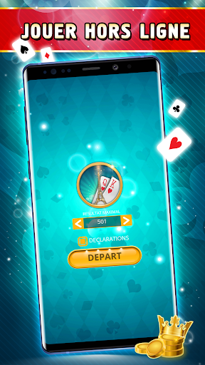 Belote Offline - Single Player Card Game screenshots 4