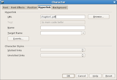 OpenOffice.org: Insert Character dialog