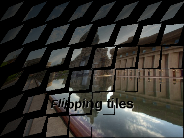 OpenOffice.org open office Impress: The new flipping tiles 3D transition