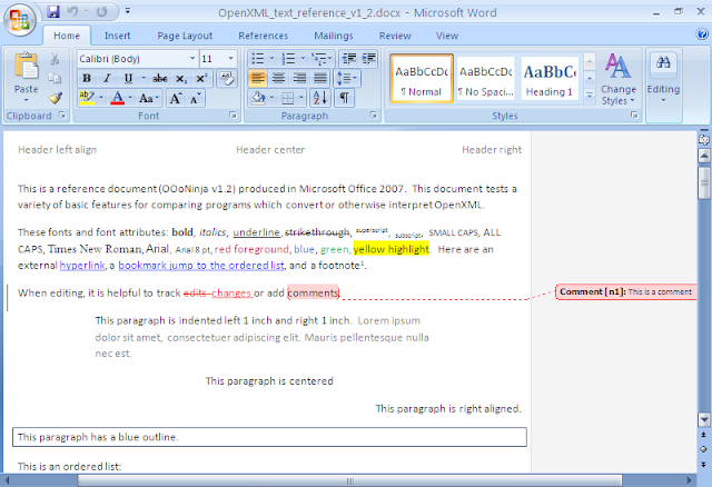 The reference document displayed in Microsoft Office Word 2007