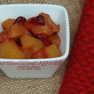 Microwave Cinnamon Apples and Cranberries.
