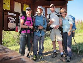 Photo: At the trailhead ready to hike into camp at Dollar Lake in Henrys Fork Basin.