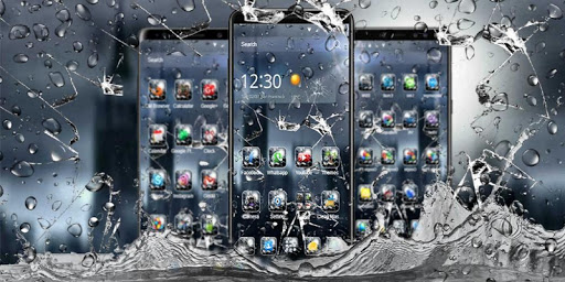 3D Rain Broken Glass Theme 1.3.19 4