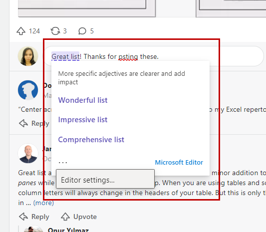Microsoft Editor offers stylistic improvements