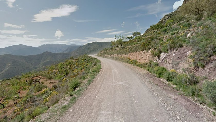 Captura de pantalla del camino de tierra en el que ocurrieron los hechos.