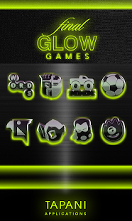 GLOW LIME icon pack HD 3D Screenshot